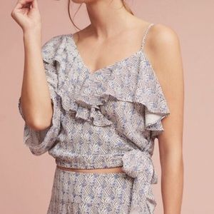 Anthropologie Maeve Pineapple Print Top M